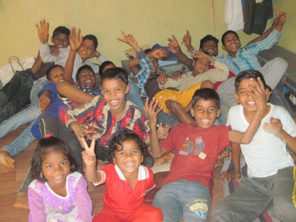 Hostel children in their free time