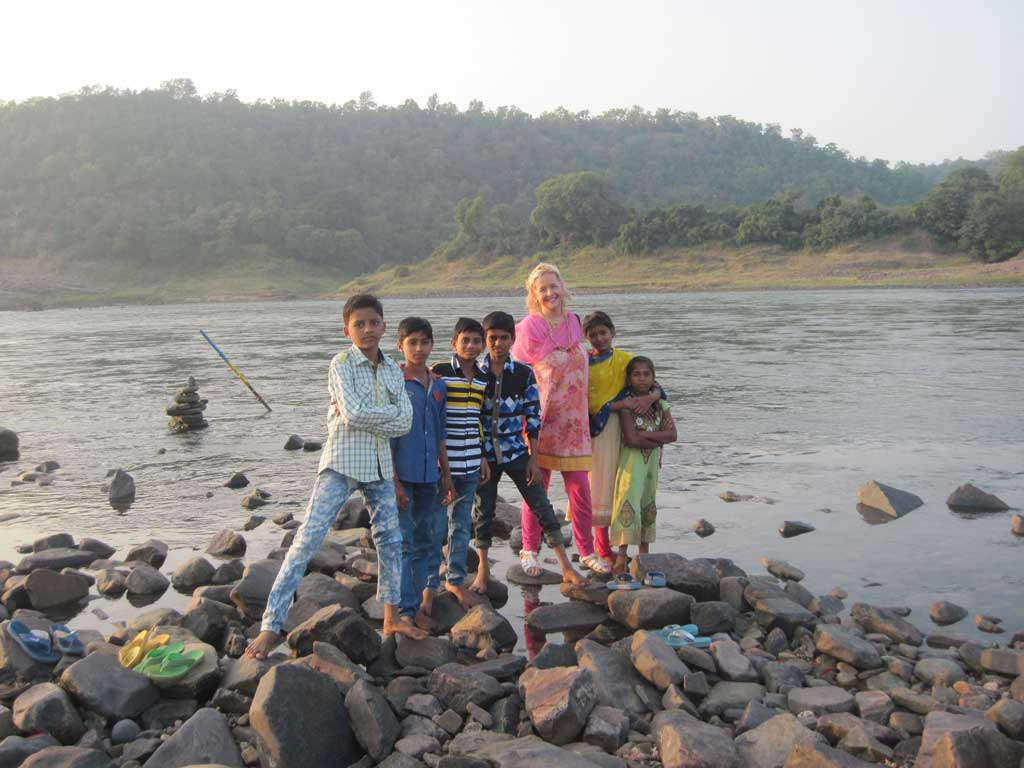 At the interface of the two rivers - Sangam