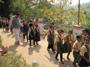 1. Klasse der von uns geförderten Ananadamayi Ma Ashram-Schule